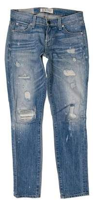 Elizabeth and James Low-Rise Distressed Jeans