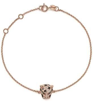 Bloomingdale's Diamond and Tsavorite Panther Bracelet in 14K Rose Gold
