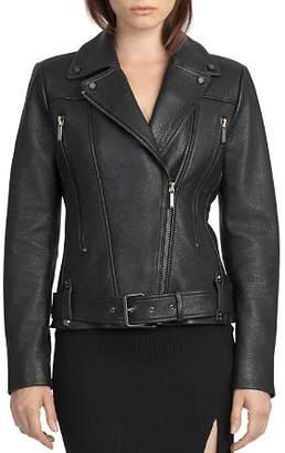 Moto BAGATELLE.CITY Belted Leather Jacket