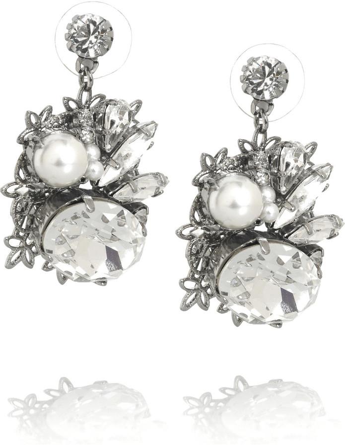 Erickson Beamon Ballerina Swarovski crystal and pearl earrings