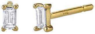 Borgioni Baguette Diamond Stud Earrings - Yellow Gold