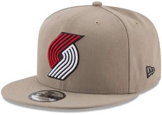 New Era Portland Trail Blazers Tan Top 9FIFTY Snapback Cap