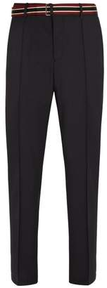 Valentino Tailored Wool Blend Trousers - Mens - Grey