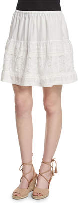 The Great The Jubilee A-Line Mini Skirt, White