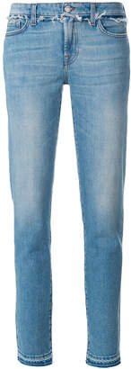 7 For All Mankind frayed trim jeans