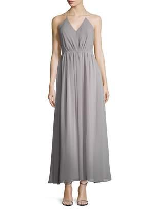 Fame & Partners Women's Ellery Gathered Halter Maxi Dress