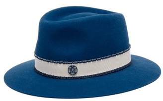 Maison Michel Andre Showerproof Felt Hat - Womens - Blue