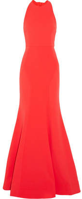 Rebecca Vallance Bow Breakers Open-back Crepe Gown - Red