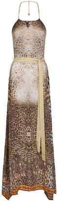 Elizabeth Hurley Leopard Print Maxi Dress