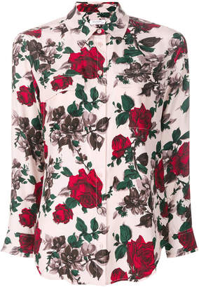Equipment rose print shirt