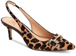 INC International Concepts I.n.c. Carynn Kitten-Heel Slingbacks, Created for Macy's Women's Shoes