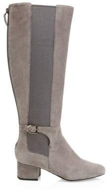Cole Haan Women's Avani Leather Stretch Boots - Grey - Size 5.5