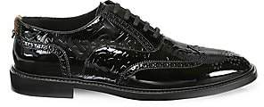 Burberry Men's Lennard TB Patent Leather Oxford Brogues
