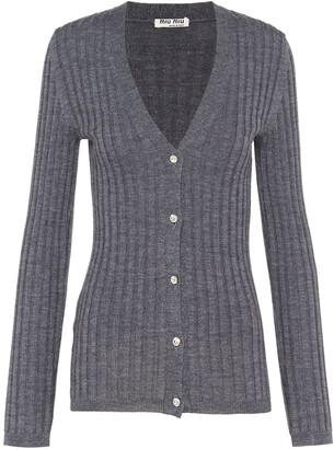 Miu Miu ribbed knit cardigan
