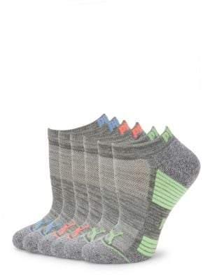 Puma Six-Pack Intarsia Knit Ankle Socks