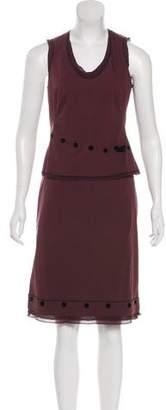 Paule Ka Sleeveless Mini Skirt Set