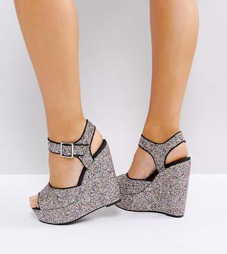 Asos Design WEALTH Wide Fit Heeled Sandals