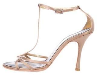 Christian Lacroix Embellished T-Strap Sandals