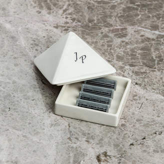 Sculpta Ceramics Personalised Shaving Razor Refills Box