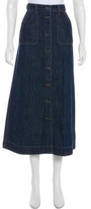 Lauren Ralph Lauren Denim Midi Skirt