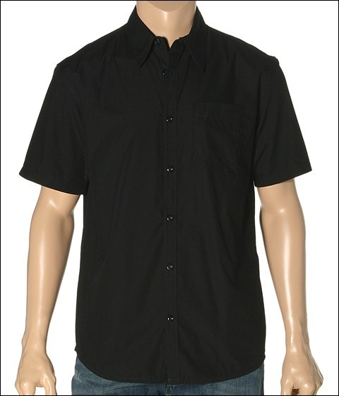 Hurley - One Only Solid S/S Buttondown (Black)