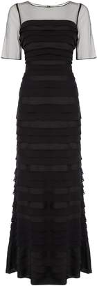 Adrianna Papell Sleeveless mesh gown