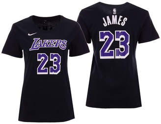 5th & Ocean Women LeBron James Los Angeles Lakers Player Name and Number T-Shirt