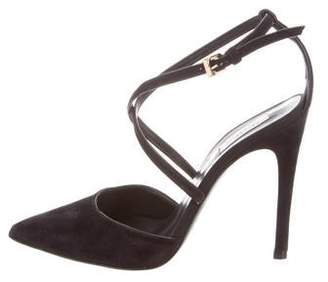 Max Mara Suede Crossover Sandals