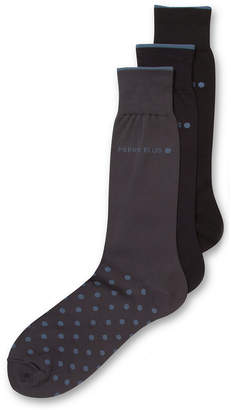 Perry Ellis Men Everyday Value 3-Pk. Microluxe Dot Socks
