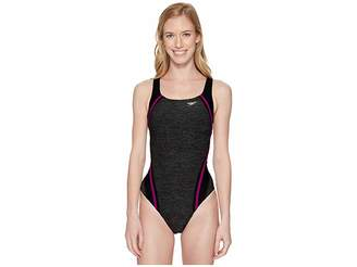 Speedo Heather Quantum Splice One-Piece
