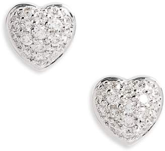 Roberto Coin Puffed Heart Diamond Earrings