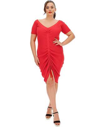 Figleaves Nightwear Red Ruched Knitted Dress
