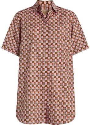 Burberry Short-sleeve Tiled Archive Print Shirt