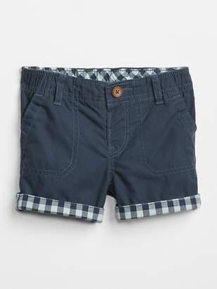 Gap Plaid Roll-Cuff Shorts