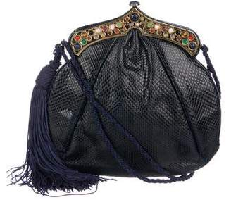 Judith Leiber Embellished Lizard Evening Bag