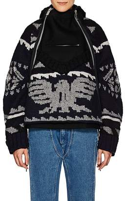 Sacai Women's Folkloric-Knit Wool Jacket