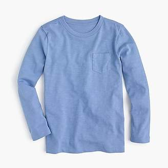 J.Crew Boys' long-sleeve pocket T-shirt in slub cotton