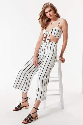 Faithfull The Brand Tomas Linen Cropped Flare Pant