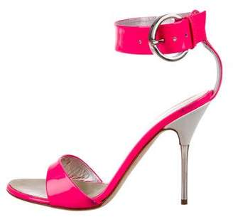 Giuseppe Zanotti Patent Leather Ankle Strap Sandals