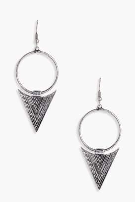 boohoo Boho Triangle Hoop Earrings