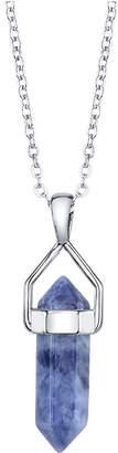"""Unwritten Semi-Precious Stone Pendant Necklace in Sterling Silver, 16"""" + 2"""" Extender"""
