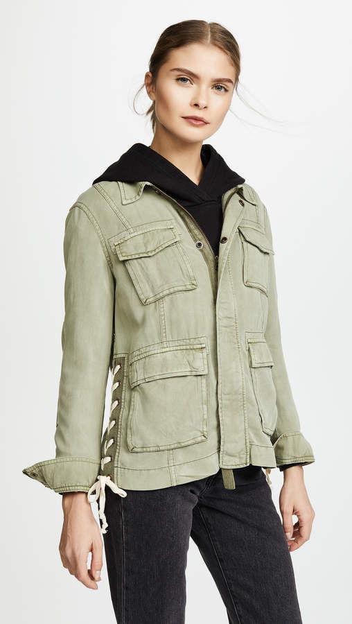 Lace Up Field Jacket