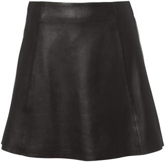 Veda Circle Leather Mini Skirt