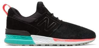 New Balance 574 Sport in Black Suede