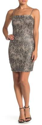 Ash MAX & Snake Print Bodycon Mini Dress