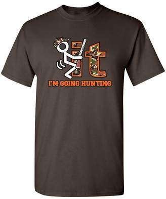 Hunter Gfj65S F It Im Going Hunting Camo Novelty Gift Graphic Sarcastic Funny T Shirt