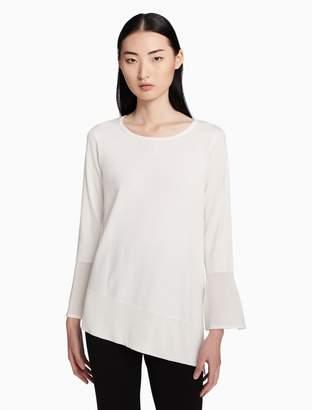Calvin Klein angled bottom flared sleeve top