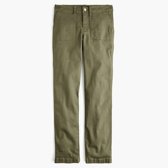 J.Crew Tall vintage straight cargo pant in slub sateen