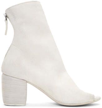 Marsèll White Suede Mabo Sand Boots