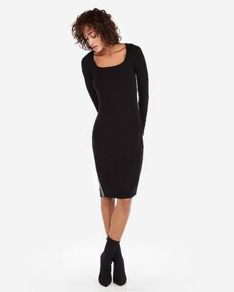 Express Petite Ribbed Square Neck Sheath Dress
